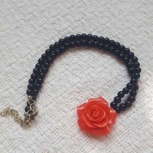 ASO Lydia Martin Teen Wolf Rose Necklace